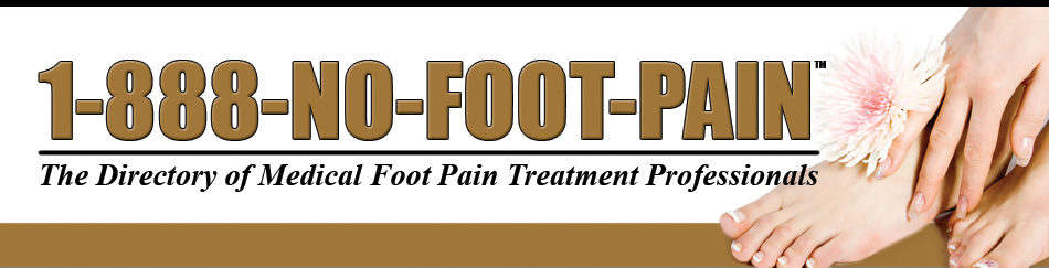 1-888-No-Foot-Pain – Find a foot pain specialist near you